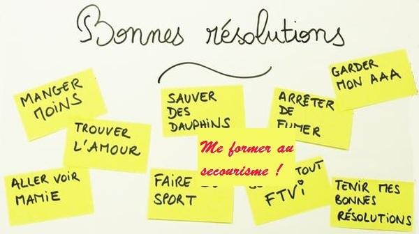 Bonnes resolutions secourisme